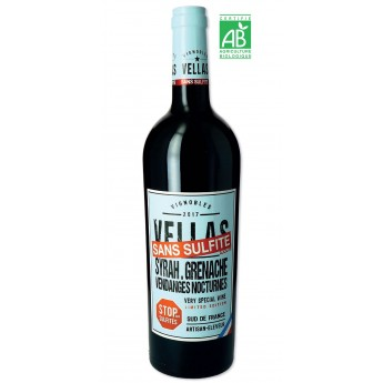 Vellas - Sulfite Free - ORGANIC - Red Wine